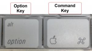 Mac Option and Command Keys