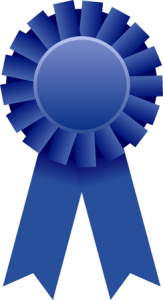 blue ribbon for being the best