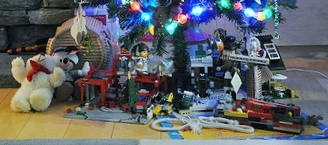 Toys under a Christmas tree