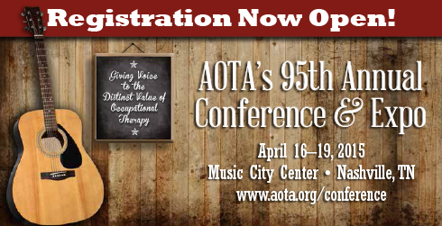 AOTA banner for 2015 conference in Nashville