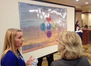 Current graduate student, Robin Kreiser, presents her poster.