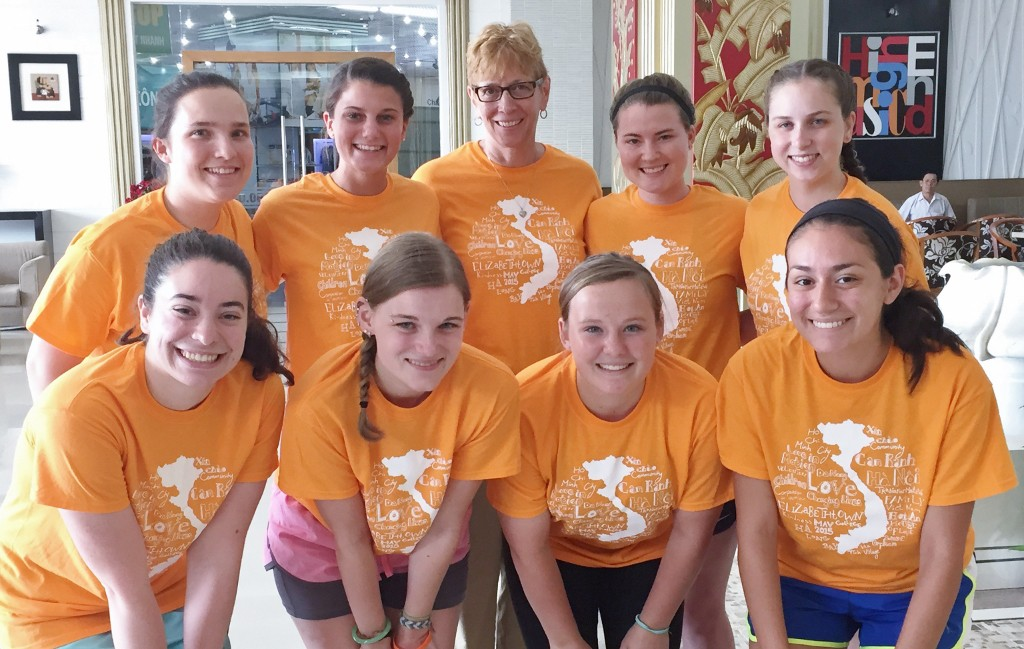 dr. ericksen and 8 students