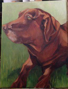 Labrador dog painted by Sara Brown del Pozo