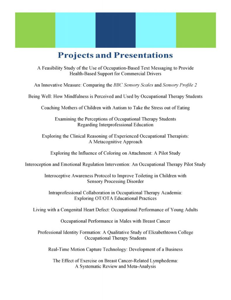 List of Presentation Titles